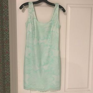 Lilly Pulitzer teal lace dress size 2